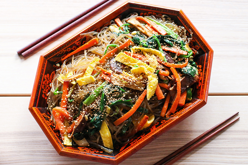 12 Days Of Holiday Blogs Japchae Korean Glass Noodles